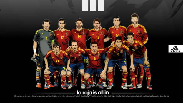 La Roja is all in. Adidas commission by akyanyme
