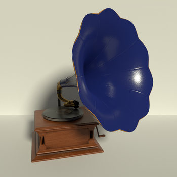 Phonograph in Blue and Brass by kbmxpxfan