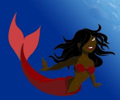 Mermaid Lineart Colored 1 by Shirekat