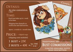 A5 Bust Commissions - English (OPEN) by Raygirl13