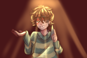 Chara- Lineless Practice by TrashcanAlphys