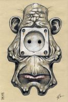 ' Current-tap face ' by pierk