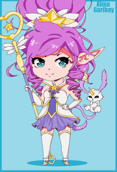 Star Guardian Janna in Paint by AlmaGKrueger