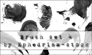 Brushes SET 4 by ephedrina-stock