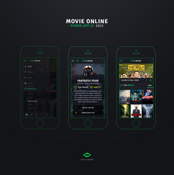 Movie Online - Phone App UI by iEimiz