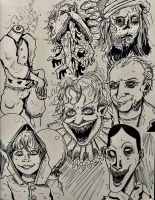 The Many Faces of Pennywise by irishimo