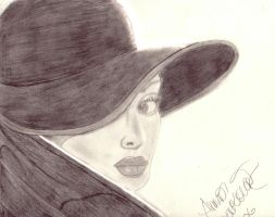 The woman behind the hat by Cherry189