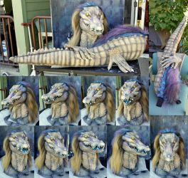 Art lib crocodile partial suit by Crystumes
