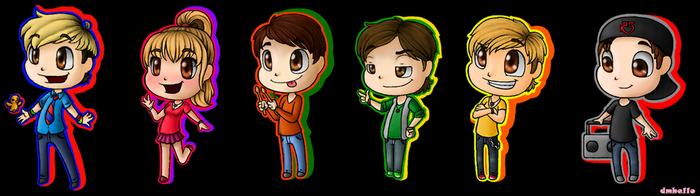 R5 and Ryland Chibis by dmhello