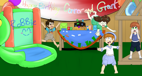 [RobbieFTT] Connor and Grant's Birthday Party by BlackestKnight049