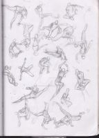 Sketches : Body Studies more parkour by Betterifimdeath