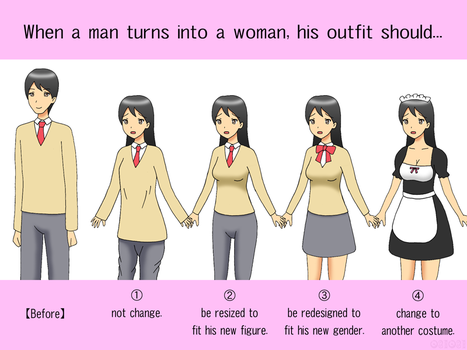 Poll: Outfit Change of Male to Female TG by gomyugomyu