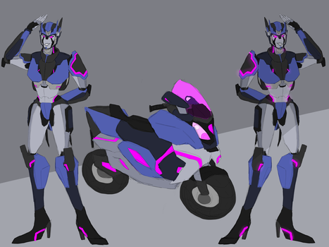 Female scooter minicon custom (2/2) by AndroidAss