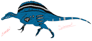 Youtube Spinosaurus by BrooksLeibee