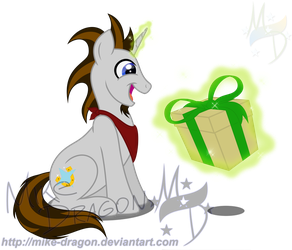 Silver Trot Receives a Gift [Updated] by Mike-Dragon