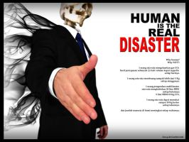 human is the real disaster by fun-g