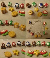 Mario Charms by Sorenli