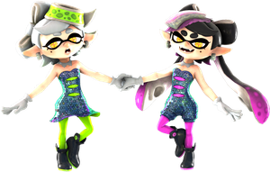 My two favorite squids by EpicFastHedgehog