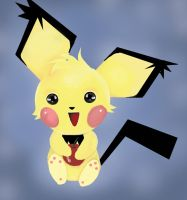 day 2 something cute: pichu by Goldphishy