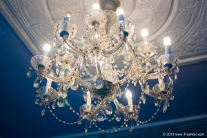 White chandelier stock image 001 by NoirArt