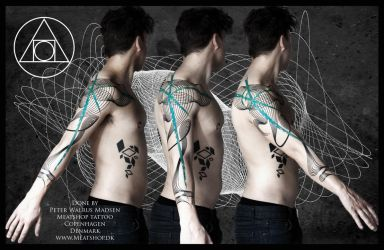 The Harmonographic discord tattoo by Meatshop-Tattoo