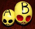 Skull A and B by angelacapel