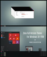 Zeka Full Vesion Theme Windows 10 RTM by Cleodesktop