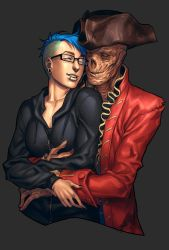 Commission from Pirate-Cashoo - Lovely Huggle by AftonTrash