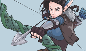 Critical Role - Fenthras And Vex by SketchRisk