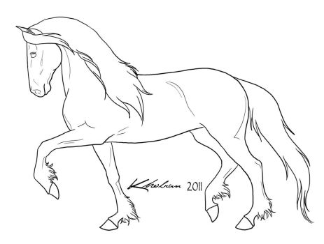 Friesian Lineart by Kholran