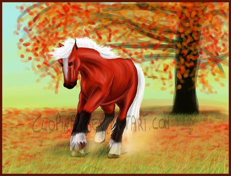 Runnin' In The Red Field by Clopina