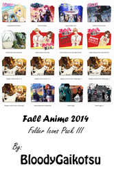 Fall Anime 2014 Folder Icons Pack III by BloodyGaikotsu