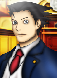 Phoenix Wright by DENDEROTTO
