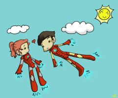 Pepperony meets Iron Rescue by Marli