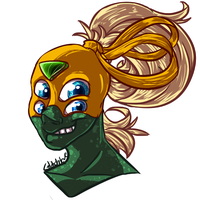 Headshot Commission: Unnamed Fusion by Glitchdove
