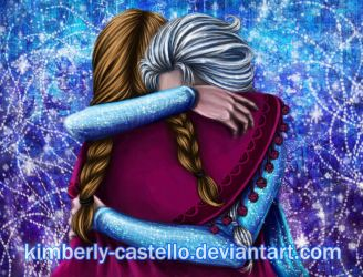 Frozen: .:Anna and Elsa:. by kimberly-castello