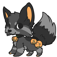 [OPEN - AUCTION] Halloween Black Fox by Ayinai