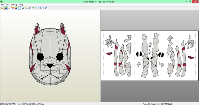Anbu Mask (4) Papercraft [DOWNLOAD] by SIBOR270898