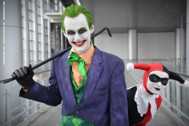 DC Comics' Classic Harley and Joker by AHu-PL
