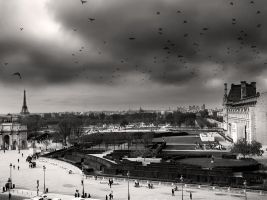 afternoon at the tuileries by VaggelisFragiadakis