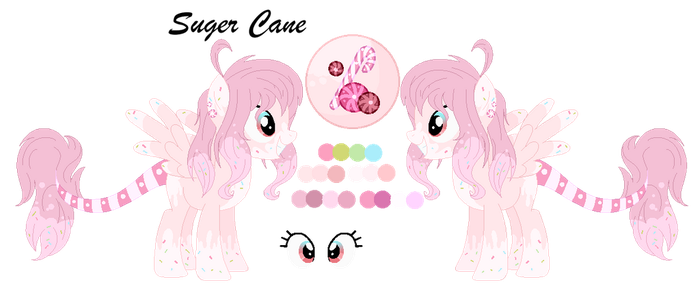 [OC] Suger Cane (Ref Sheet) by MLPCrystalHarmony