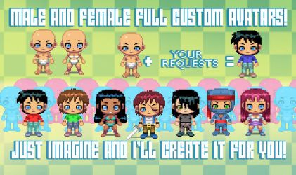 PIXEL ART AVATAR SPECIAL OFFER by OscarCelestini