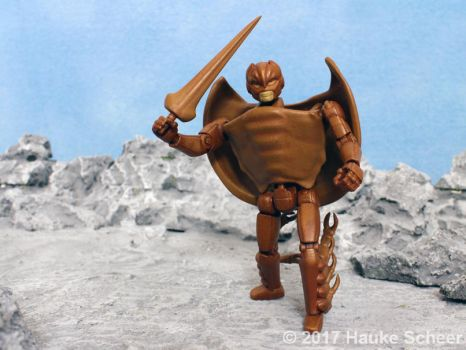 3D printed transformable Horseshoe Crab with sword by hauke3000