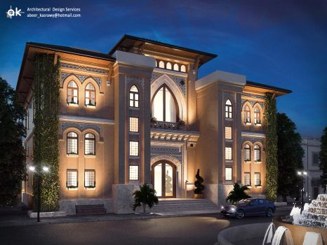 KSA Boutique hotel - First draft exterior by kasrawy