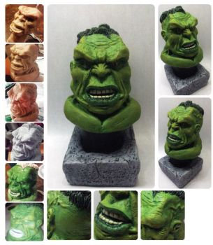 hulk bust by camillo1988
