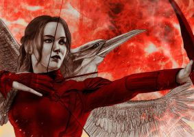 Katniss/Mockingjay by JabberjayArt