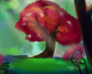 Tree In The Woods by Bountywolf