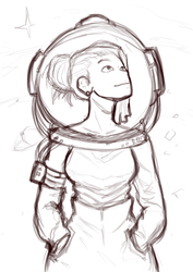 Astronaut Girl (SKETCH) by Juanjosexd