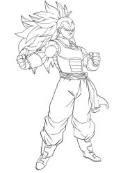 Masako X good Raditz -free to color- by Blood-Splach
