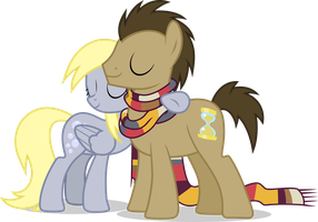 Derpy And Dr. Whooves by Tralomine